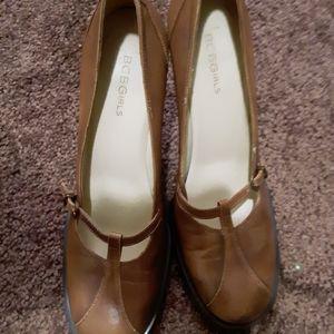 Brown Mary Jane heels